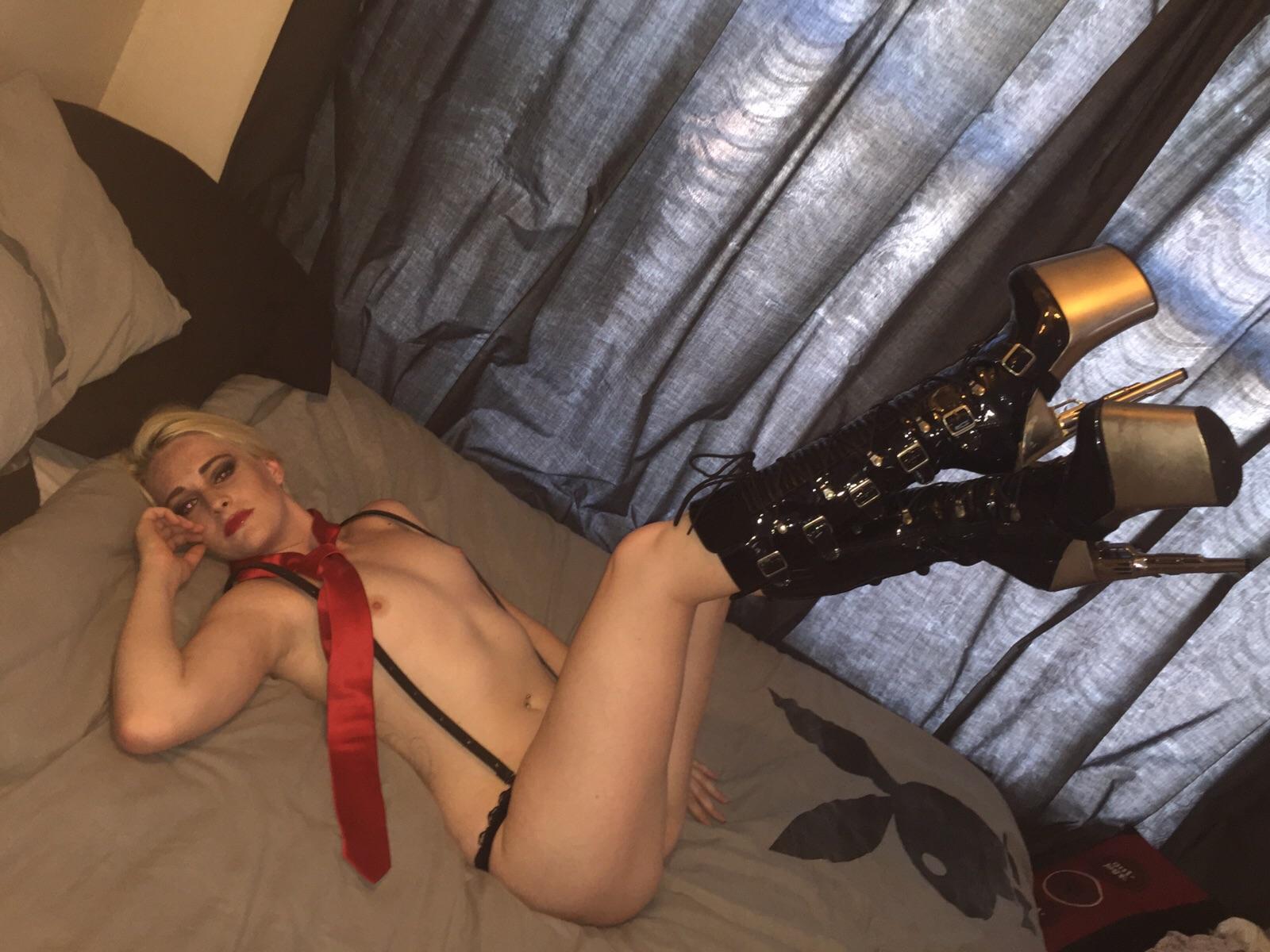 Gorgeous girl using vibrator